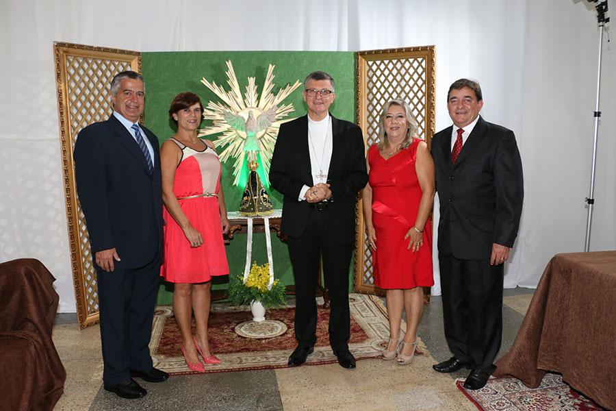 Sérgio e Nilde Gomes, Dom Pedro Luiz    Stringhini, Márcia Regina Pauletti Oliveira e João Pedro dos Santos