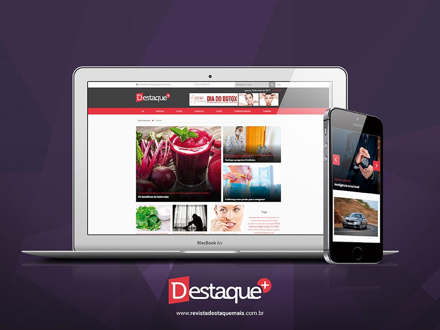Novo site da revista Destaque+
