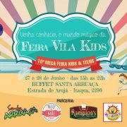 Feira Vila Kids acontece dias 27 e 28 no Santa Arruaça, em Arujá