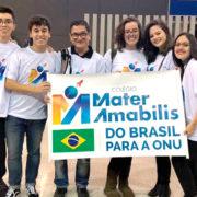 Alunos do Mater Amabilis participam de simulação do encontro de países da ONU